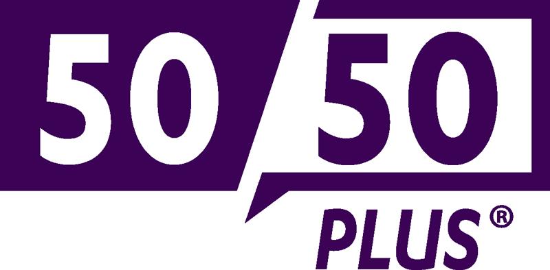 50/50 Plus logo